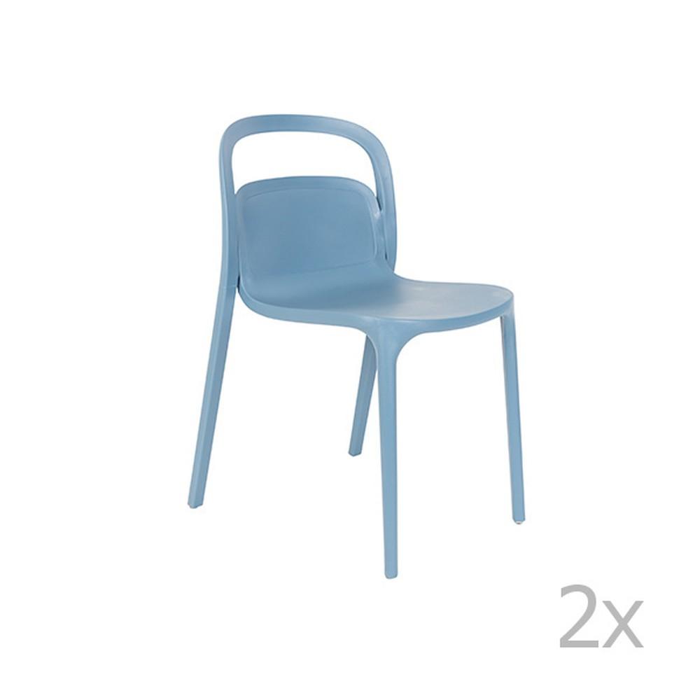 Sada 2 modrých stoličiek White Label Rex