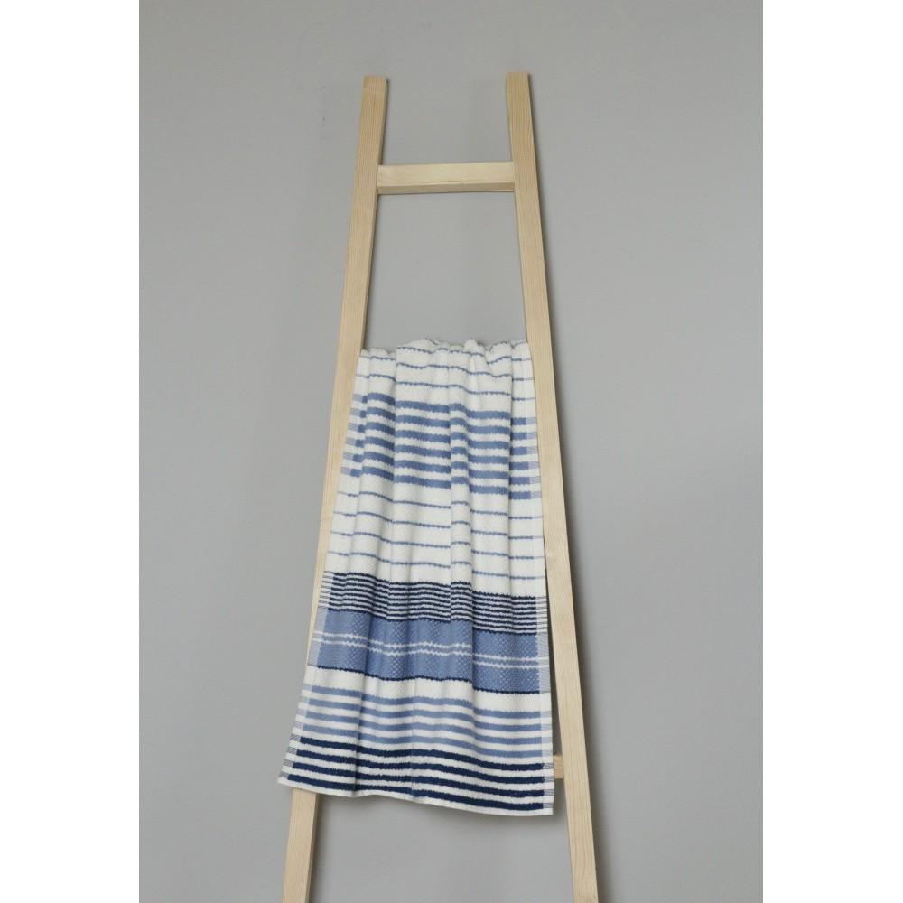 Modro-biely bavlnený uterák My Home Plus Spa, 50×90 cm