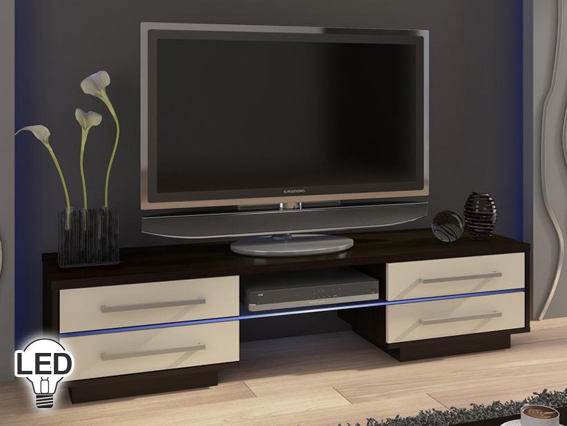 TV stolík/skrinka Laguna (wenge + krém)
