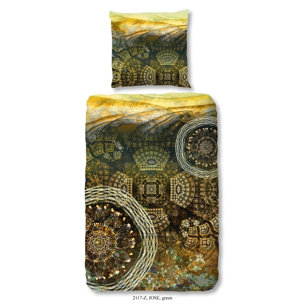 Obliečka na jednolôžko z bavlneného saténu zouzou Jose, 135 x 200 cm
