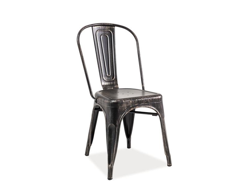 Jedálenská stolička Loft (čierna brúsená)
