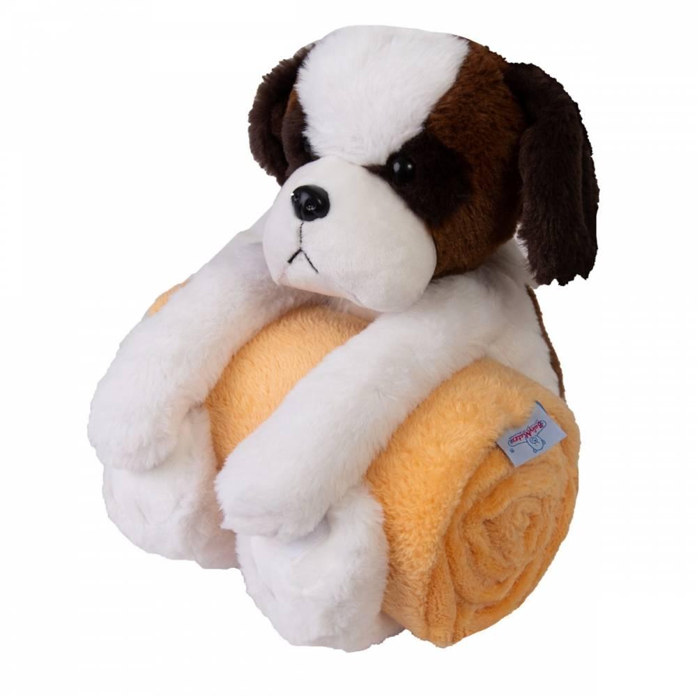 Babymatex Detská deka Carol s plyšákom pes, 85 x 100 cm