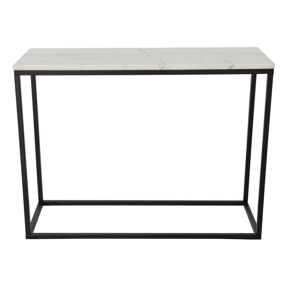 Mramorový konferenčný stolík s čiernou konštrukciou RGE Accent, 100 x 35 cm