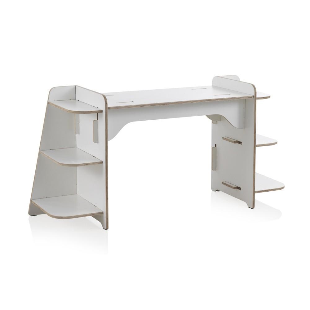 e2c1395fe028 Biely detský písací stôl z preglejky Geese