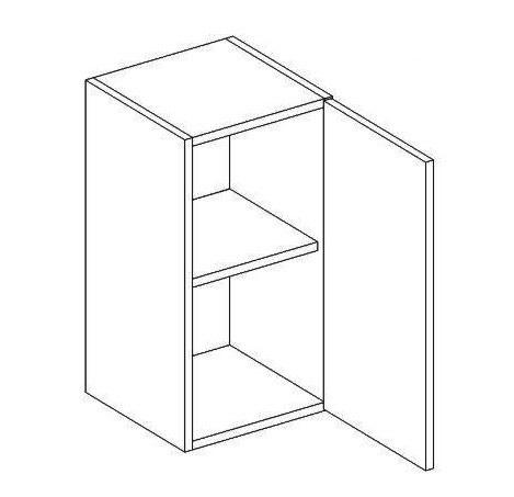 W30 horná skrinka jednodverová MYA, picard/biely lesk