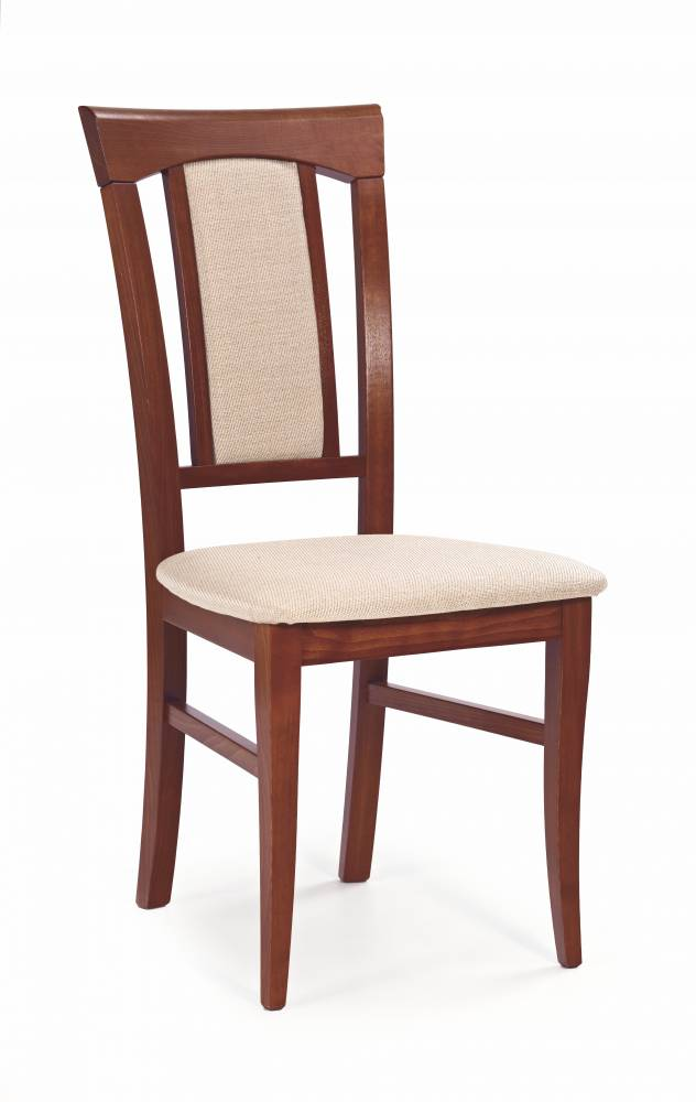 Jedálenská stolička Konrad (čerešňa antická II + béžová)