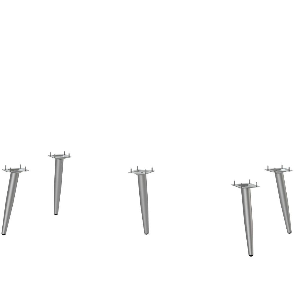 Sada 5 ocelových nožičiek ku komodám Støraa Bertil