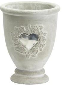 Dekoratívny kvetináč - sivá