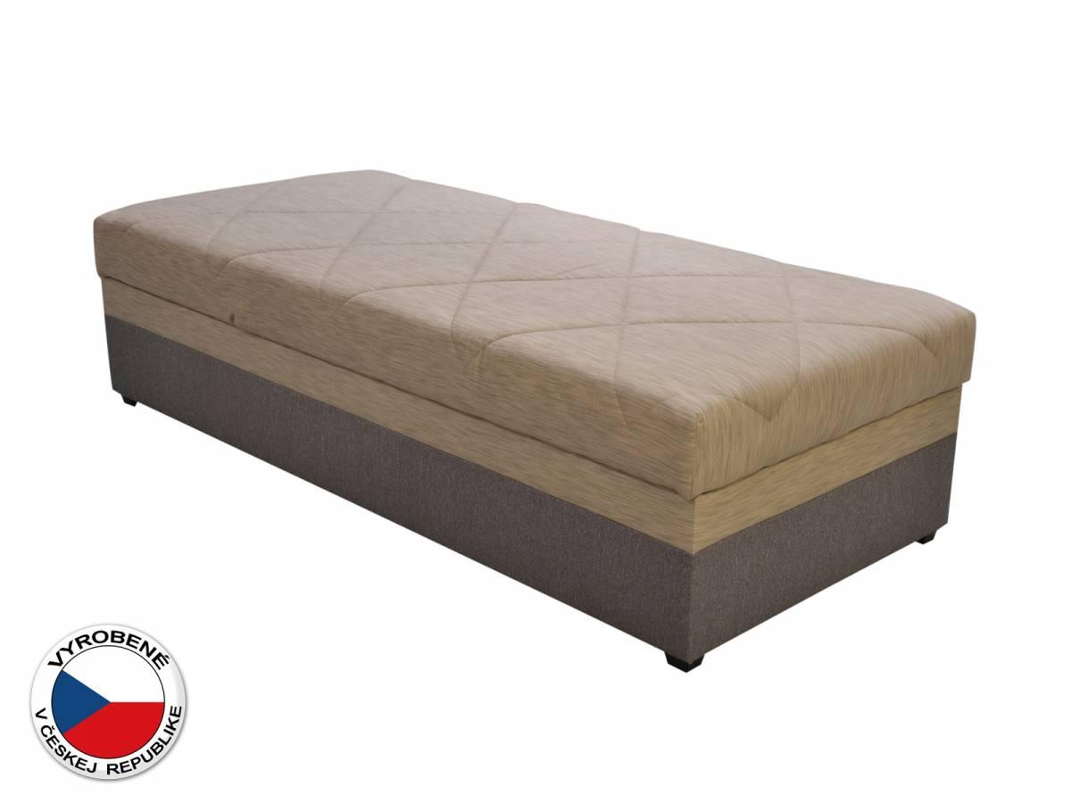 Jednolôžková posteľ (váľanda) 90 cm Blanár Evelina (béžová + hnedá) (s roštom a matracom)