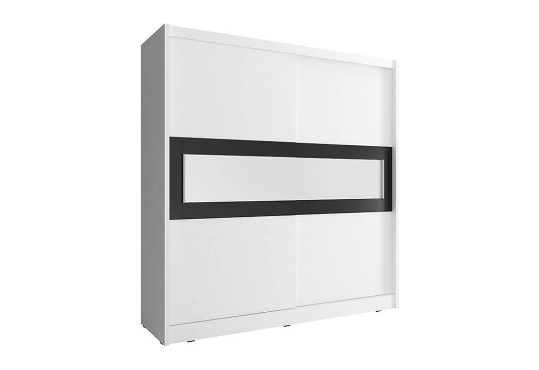 Šatníková skriňa WHITNEY 4, 200x214x62 cm, biely
