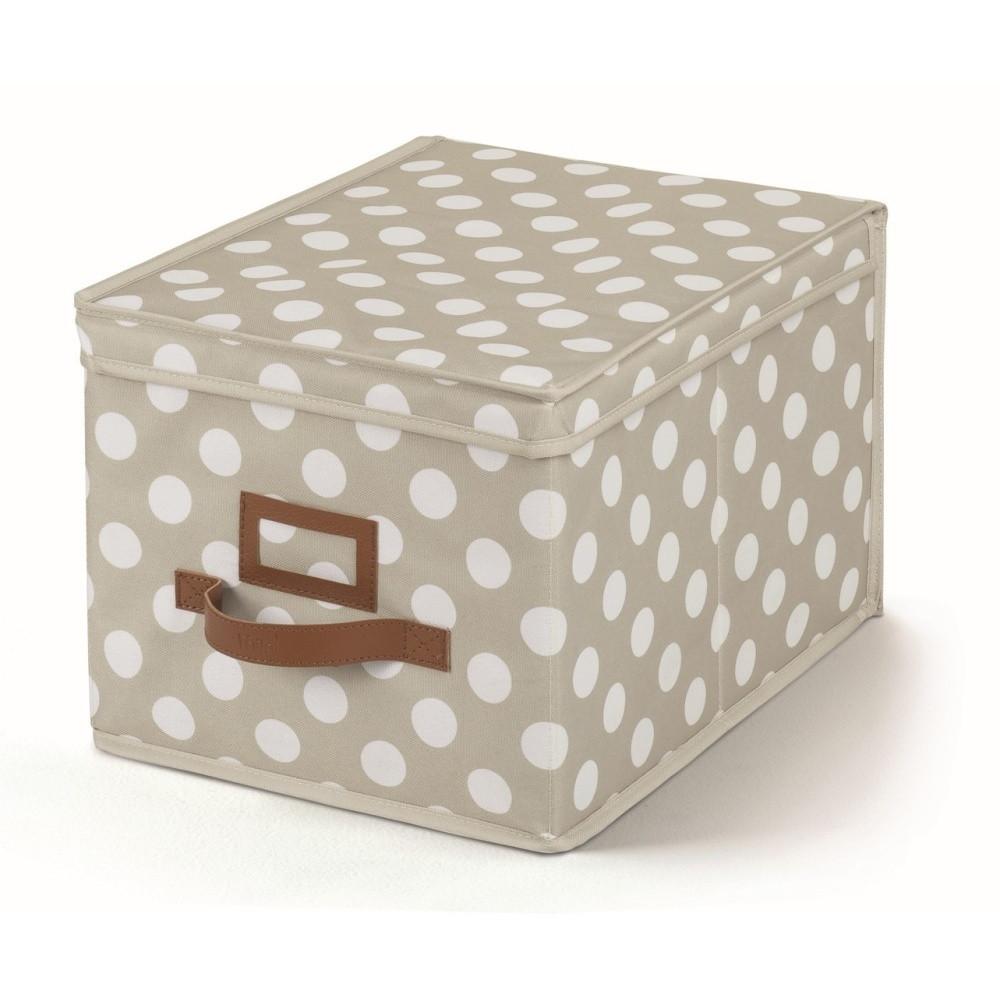 Sivý úložný box s vrchnákom Cosatto Jolie, 25 x 40 cm
