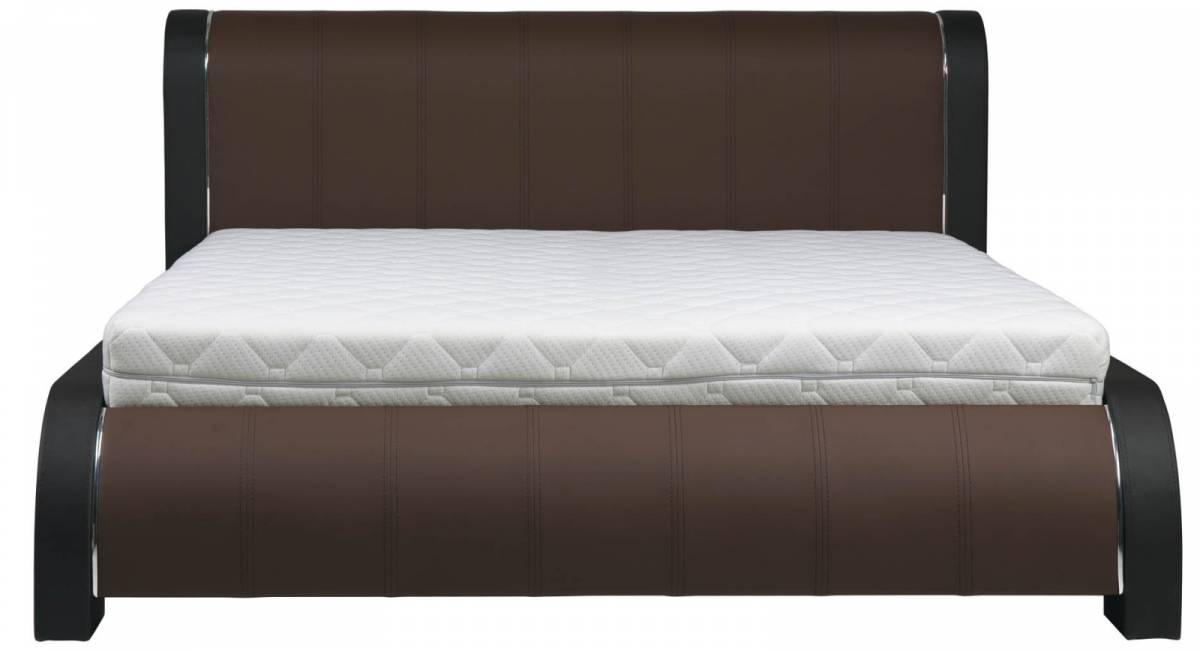 BOG-FRAN NAOMI 180 posteľ s roštom - hnedá / čierna