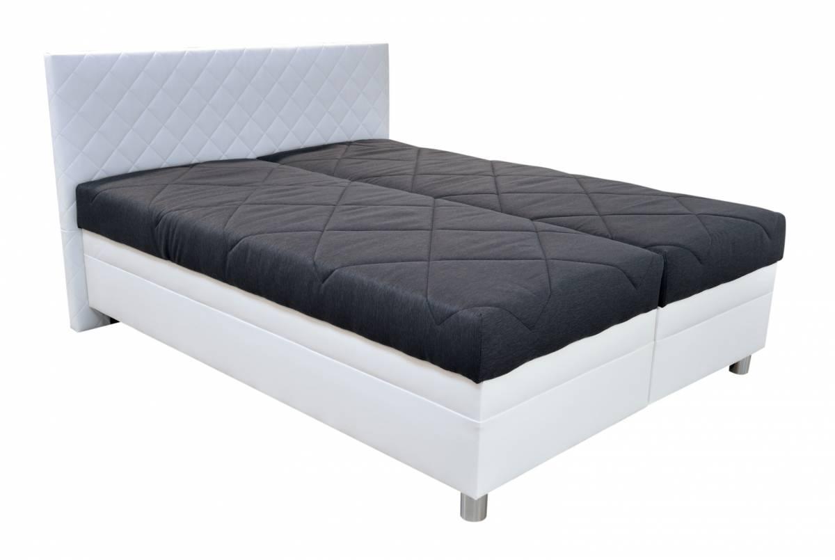 Manželská posteľ 180 cm Blanár Pettigo (biela) (s roštom a matracom)