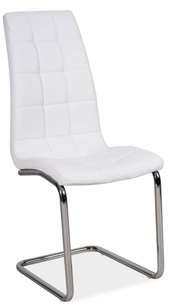 Jedálenská stolička DONA, biela