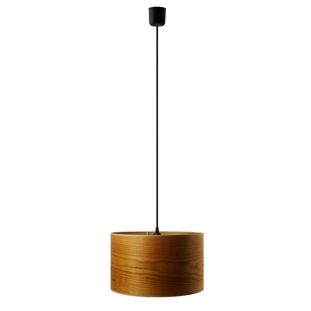 Závesné svietidlo vo farbe čerešňového dreva Sotto Luce Tsuru, Ø 40 cm