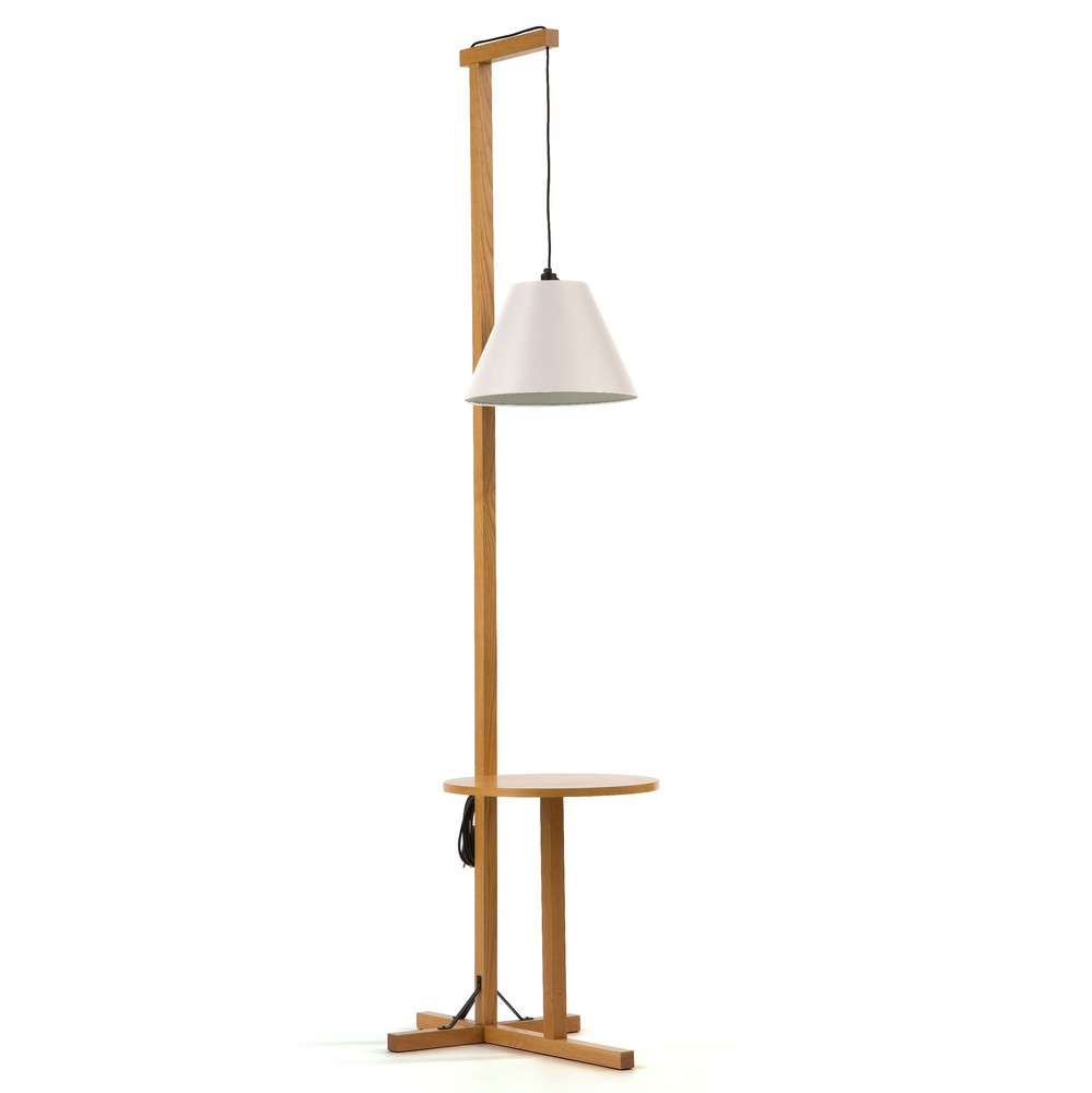 Biela stojacia lampa Woodman Floor