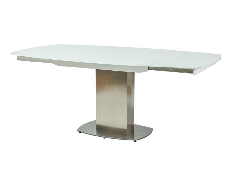 LUCKY jedálenský stôl, biely lesk