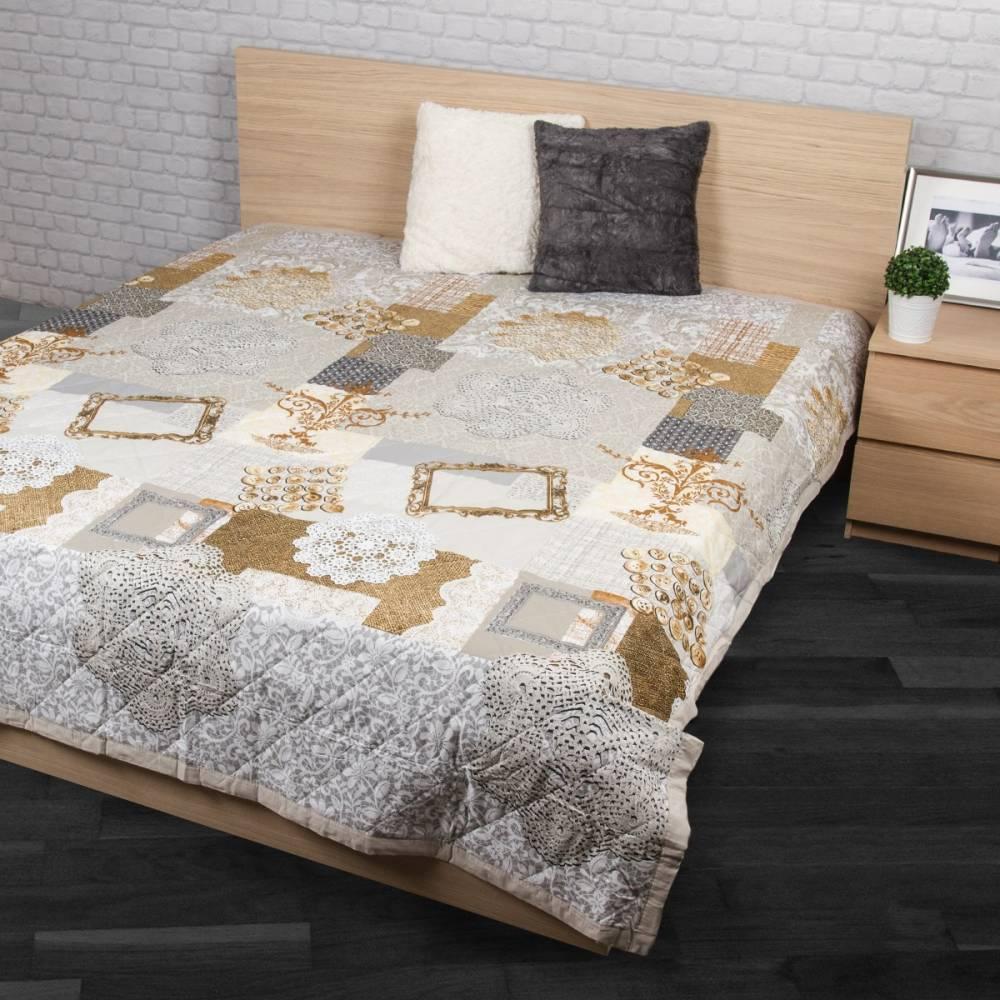 Prehoz na posteľ Lace béžová, 240 x 200 cm