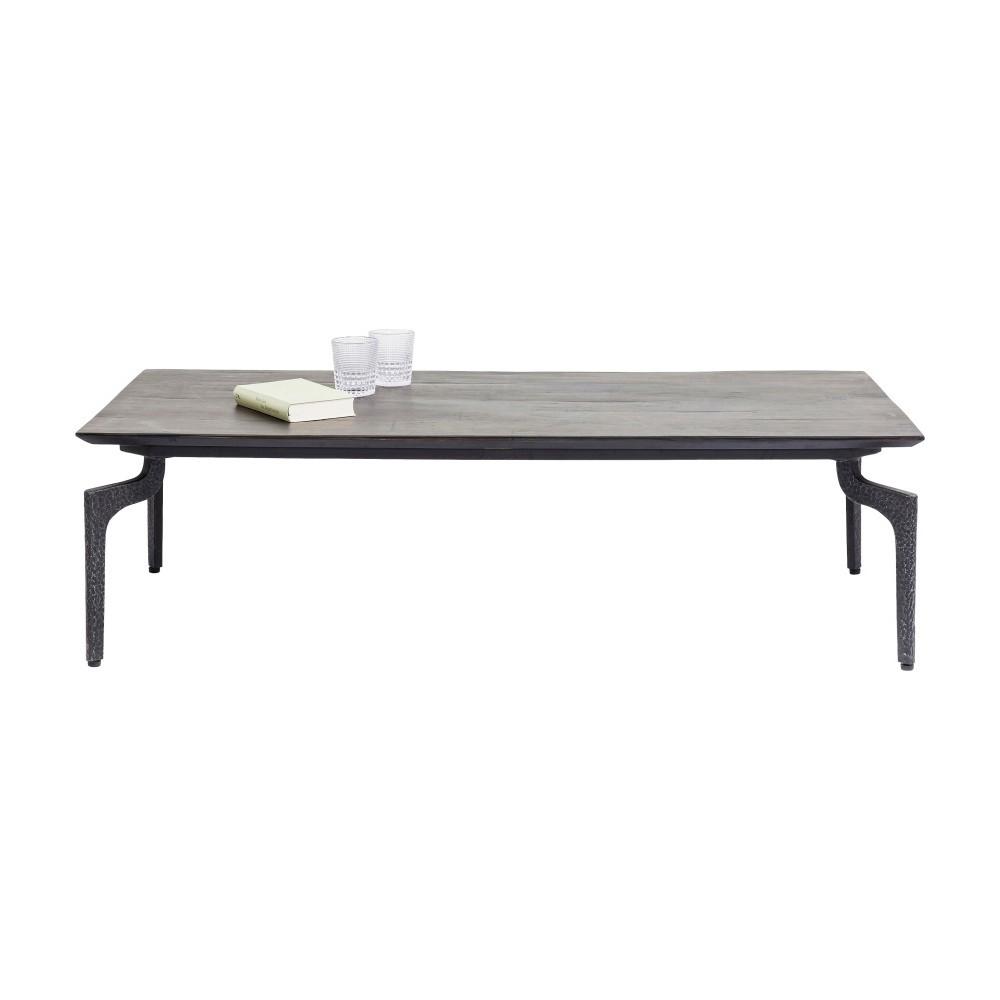 Čierny jedálenský stôl z recyklovaného dreva Kare Design Boston, 300 × 90 cm