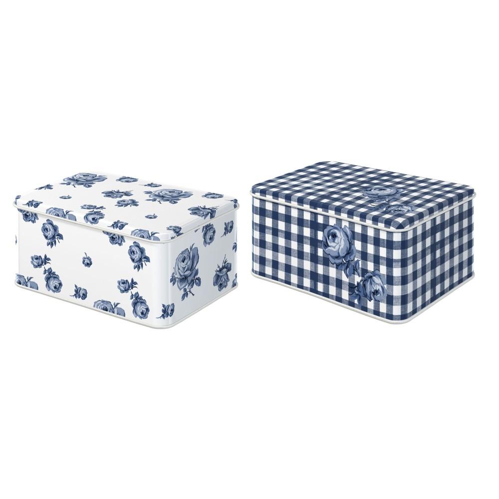 Sada 2 plechových krabičiek Katie Alice Indigo