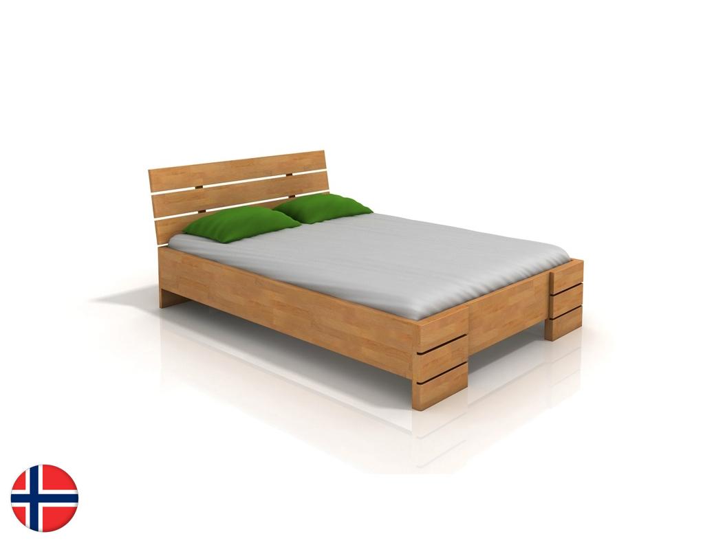 Manželská posteľ 160 cm Naturlig Lorenskog High BC (buk) (s roštom)