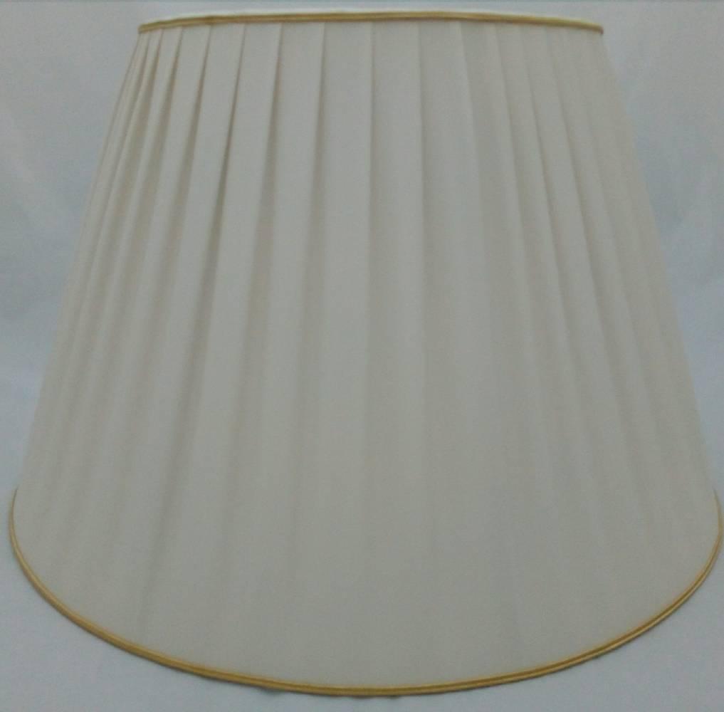 Plysované tienidlo z hodvábu na lampu 40cm
