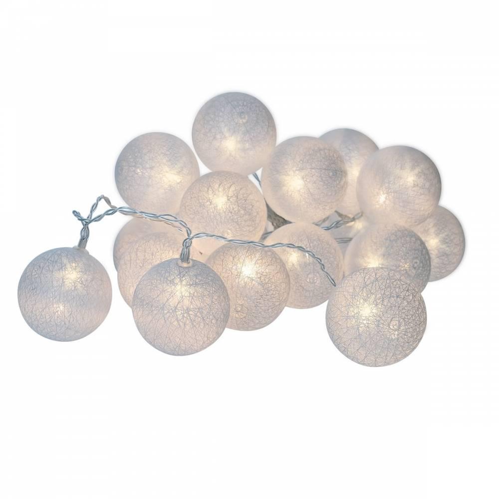 Solight LED vianočné gule bavlnené, 20LED, 3m, IP20