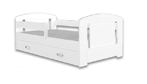 Detská posteľ FILIP COLOR s úložným priestorom   Farba: Biela / biela