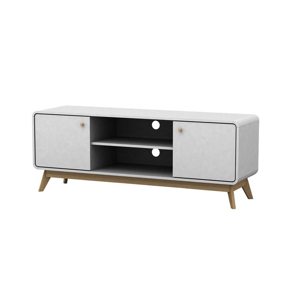 Biely drevený TV stolík Størra Cleo