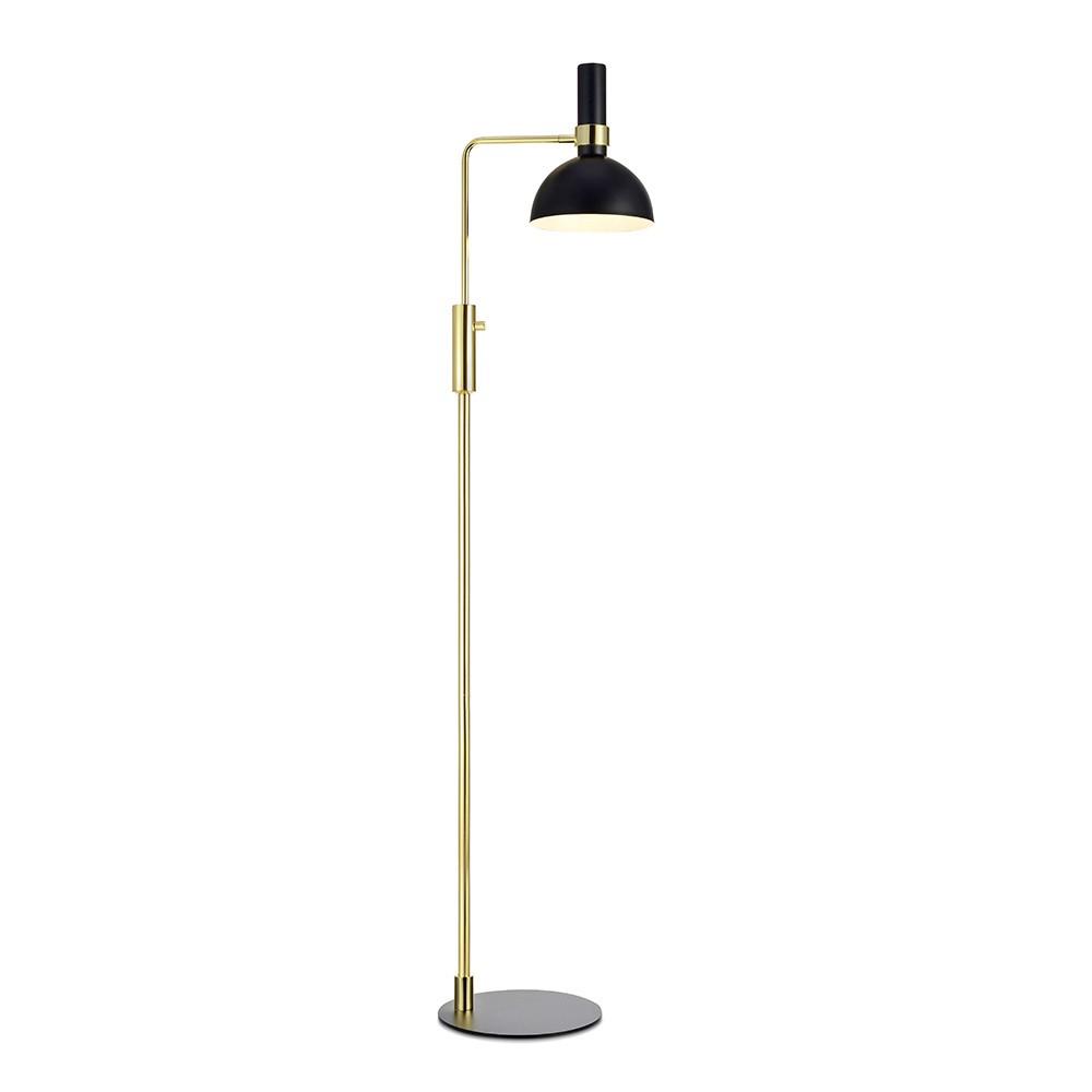 Stojacia lampa v čierno-zlatej farbe Markslöjd Larry