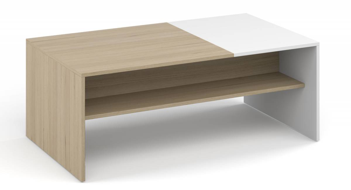 MONAKO konferenčný stolík, biela/sonoma