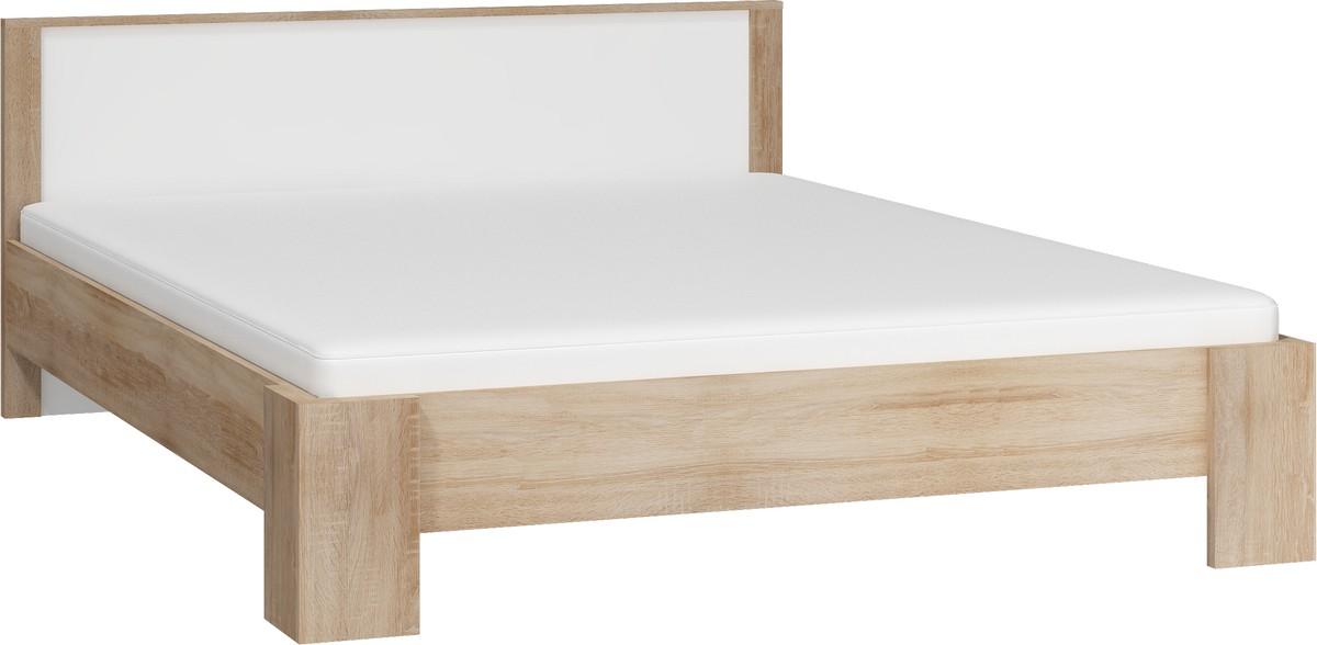 WIP VIKI VIK-10 160 posteľ s roštom - sonoma svetlá / biely lesk