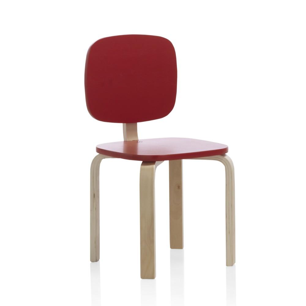 Detská stolička s červeným operadlom Geese Petit