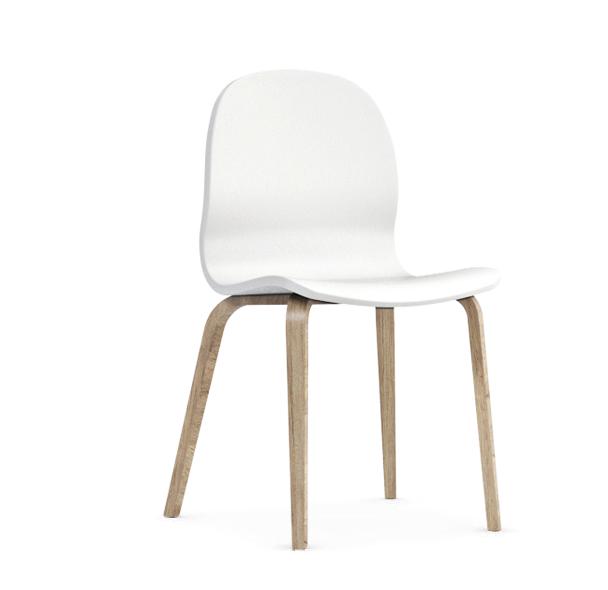 Jedálenská stolička Possi biela   Farba: biela/san remo sand svetlý