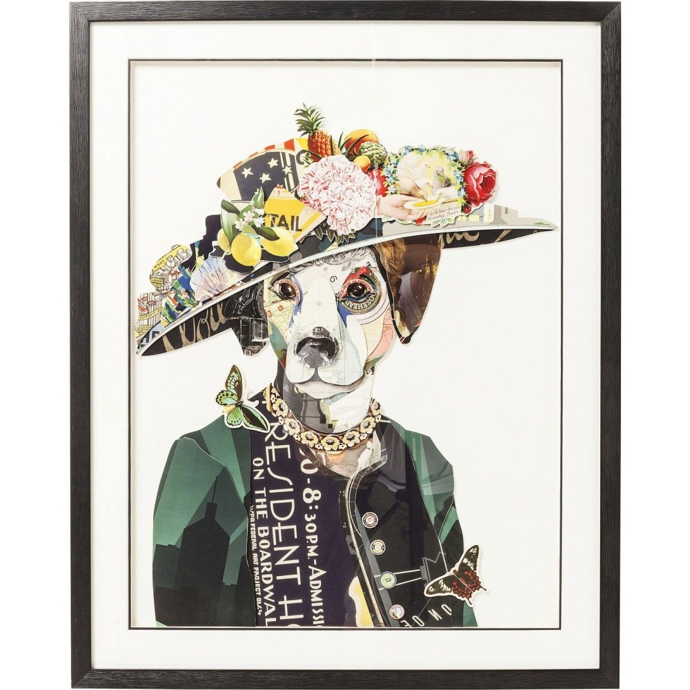 Obraz Kare Design Art Lady Dog, 72 x 90 cm