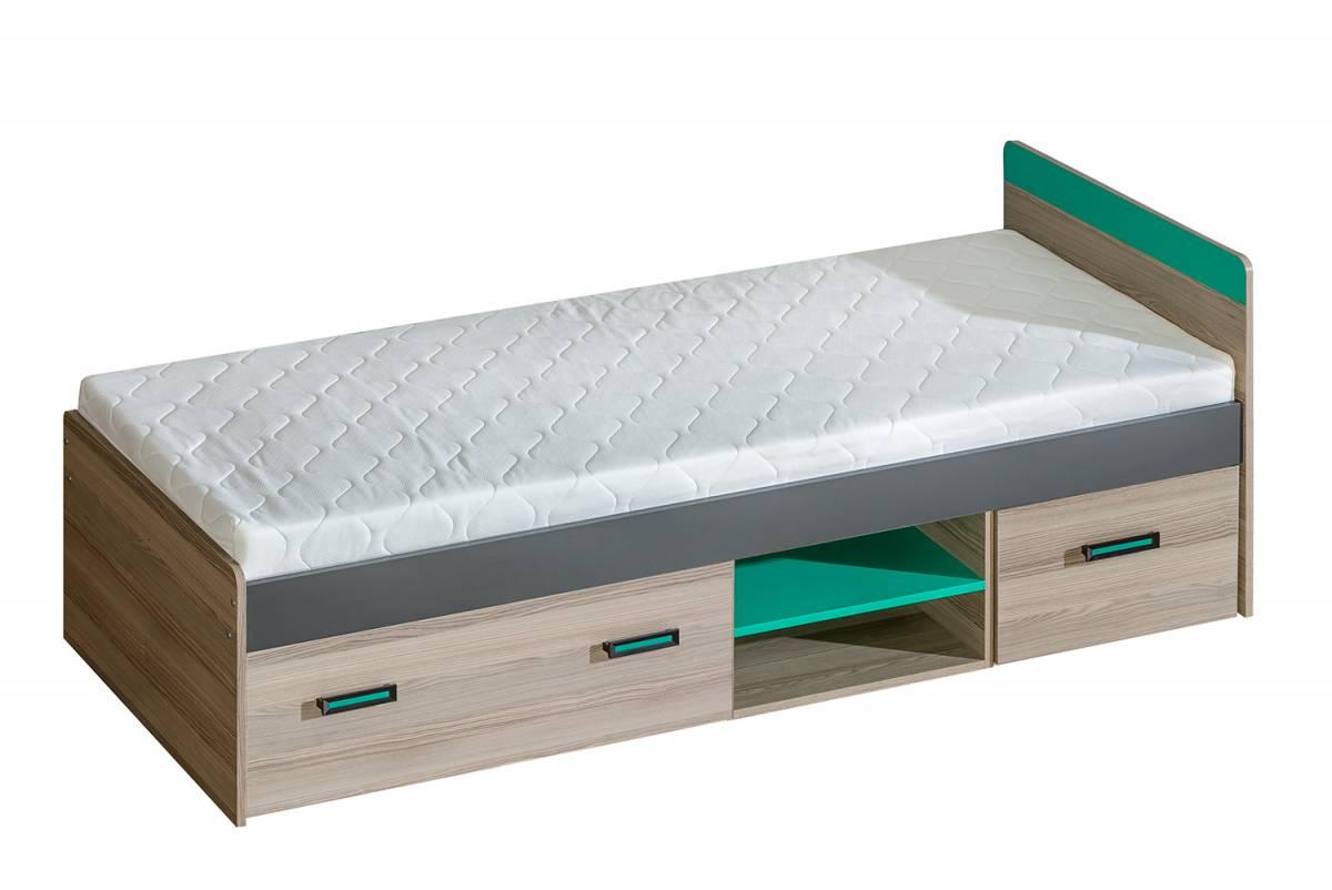 Jednolôžková posteľ 80 cm U7 (s roštom a úl. priestorom)