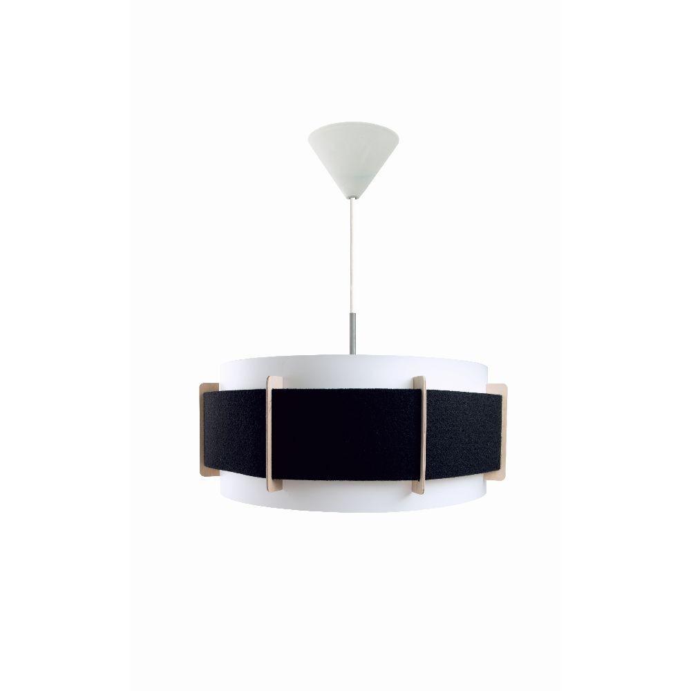Čierne závesné svietidlo Vivorum Lux
