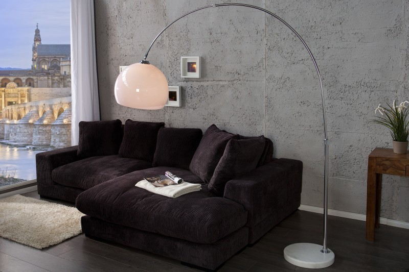 Stojaca lampa BIG BOW 185-205 cm - biela