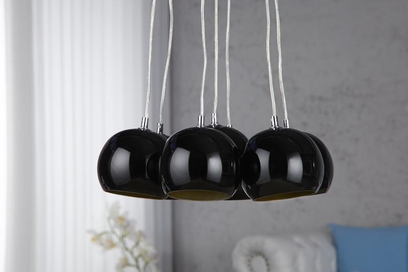 Visiaca lampa VIRGO - čierna/zlatá