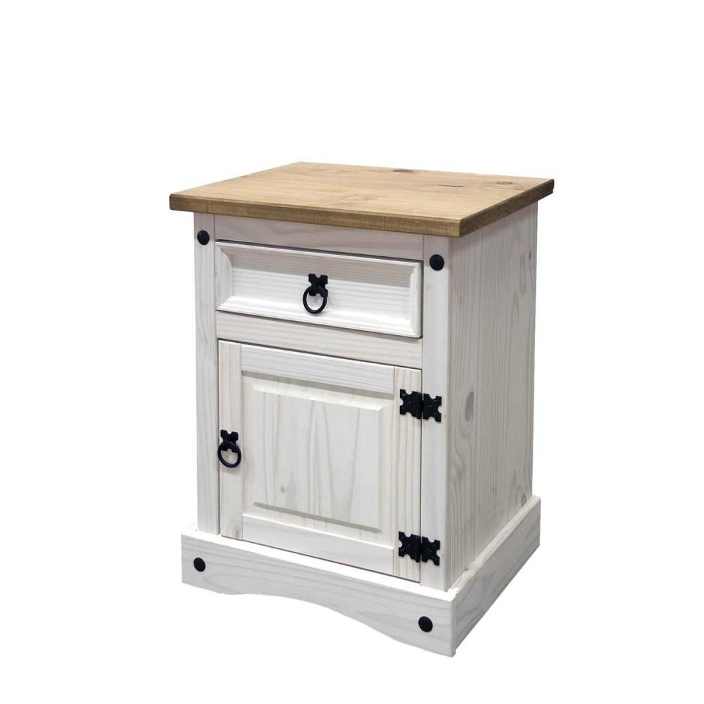 Nočný stolík CORONA biely vosk