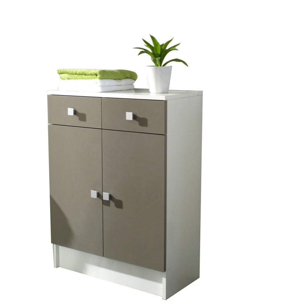 Sivohnedá kúpeľňová skrinka Symbiosis André, šírka 60cm