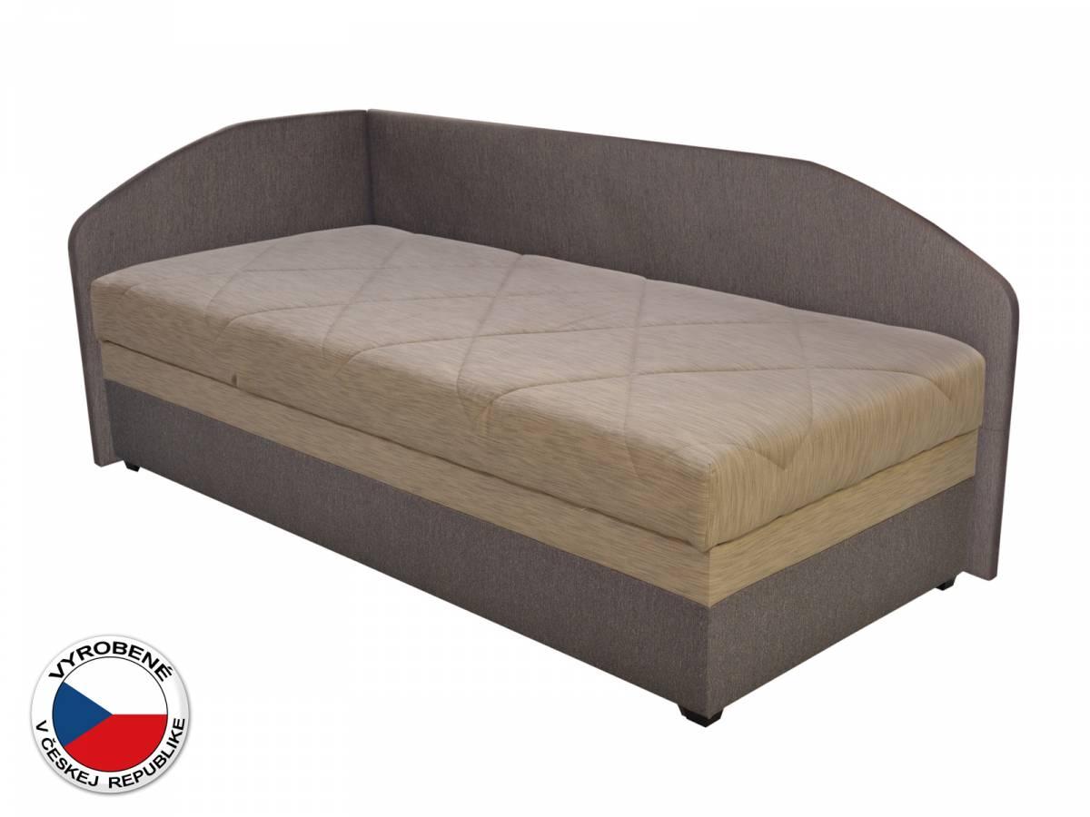Jednolôžková posteľ (váľanda) 90 cm Blanár Turi (béžová + hnedá) (s roštom a matracom) (L)