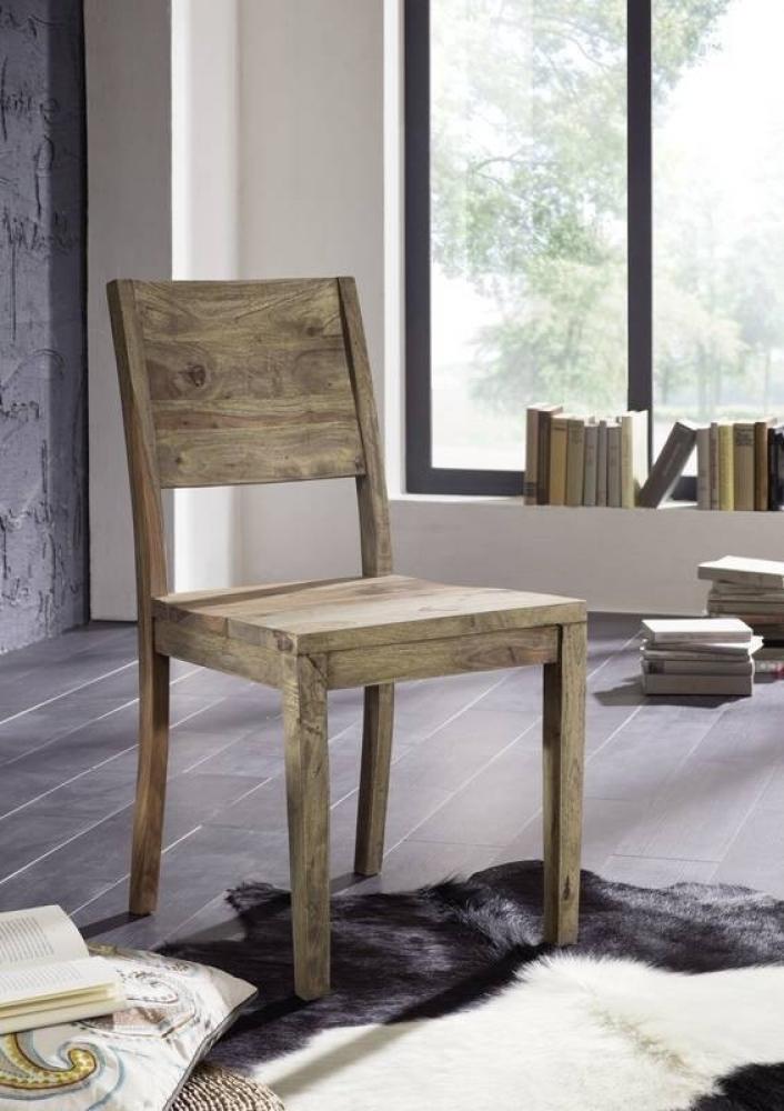 NATURE GREY #705 Sheesham stolička, masívne palisandrové drevo