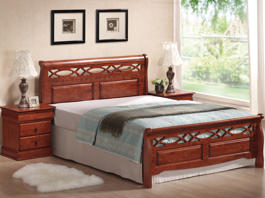 Manželská posteľ 160 cm Genewa A (s roštom)