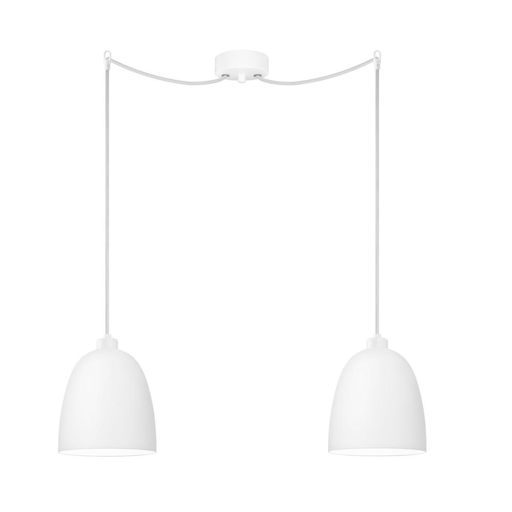 Biele dvojité závesné svietidlo Sotto Luce Awa