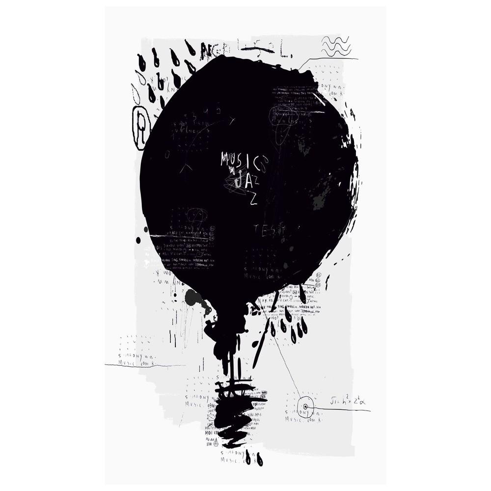 Obraz Black&White Baloon, 41 x 70 cm