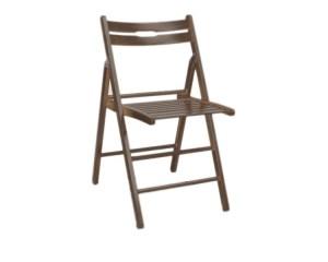 SMARTI skladacia stolička, tmavý orech