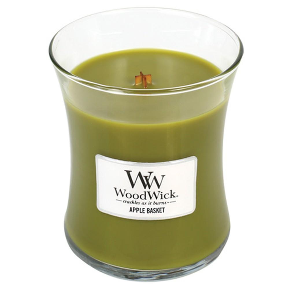Vonná sviečka WoodWick Košík jabĺk, 275 g, 60 hodín