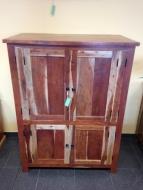 Furniture nábytok  Masívna komoda / skriňa s 2 skrinkami z Palisanderu  Leuta  110x65x145 cm