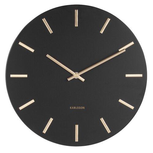 Karlsson 5821BK Dizajnové nástenné hodiny pr. 30 cm